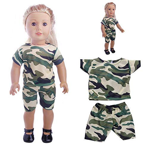 18 inch American girl doll clothes camouflage suit LATT LIV