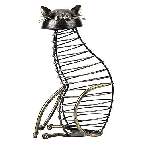 Estilo europeo lindo gato en forma de botella de vino tapón corcho contenedor de almacenamiento decoración del hogar artesanía