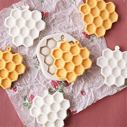 FISISZ Moule À Bricolage Durable de Bande Dessinée Miel Nid d'abeille Ruche Moule en Silicone Cupcake Fondant Gâteau Au Chocolat Moule De Décoration De Gâteau Outils