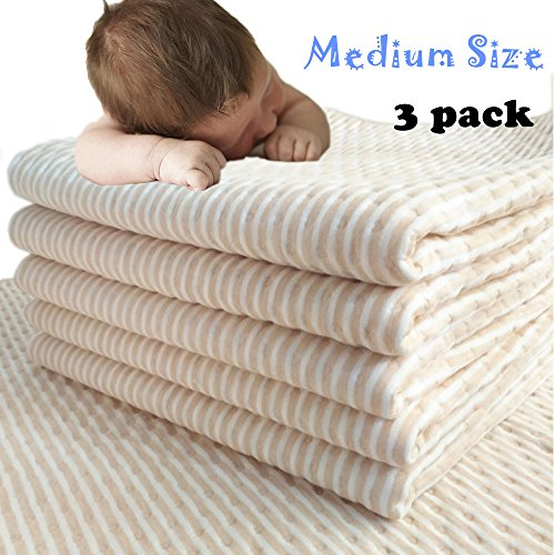 MICROFIRE MCF Waterproof Bed Pad Mattress Protector Incontinence Sheet for Baby Toddler Kids Pets Adults (M) 3 PACKs