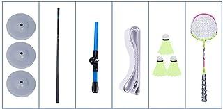 Yunt-11 Ensemble entra/îneur de Badminton /équipement d/'entra/înement en Solo Syst/ème de Pratique de Rebond en Lecture Simple pour Balancer l/'entra/înement Automatique de Badminton