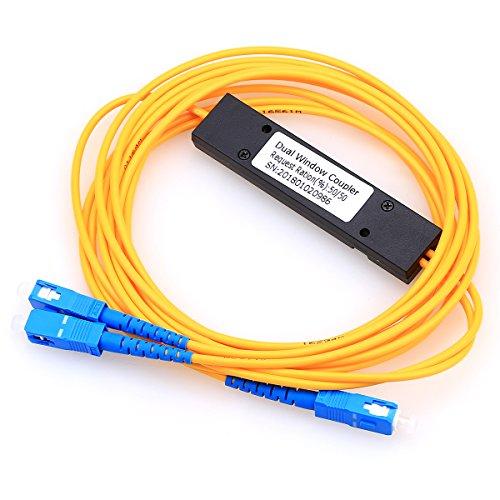 1x 2divisor de PLC HHX Casete PLC divisor óptico Cable de fibra Divisor Acri SC interfaz
