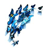 Foonii® 72 PCS 3D Schmetterlinge Wanddeko Aufkleber