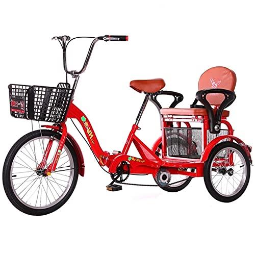 zyy Bicicleta de 1 Velocidades con 3 Ruedas Triciclo Adulto de 16