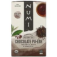 Numi Tea ヌミティー オーガニック プーアル茶 [チョコレート プアール] 16バッグ入りOrganic Pu-Erh Tea, Chocolate Pu-Erh [海外直送品] [並行輸入品]