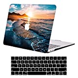 Compatible with MacBook Air 13 inch Case 2020 A2337 M1 A2179 A1932 DTangLsm Plastic Hard Shell Case&Kerboard Cover Rubberized Laptop Protective Case for 13'' Mac Air w/Retina 2020-2018 Release,Sunset