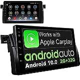 IYING Android 10 Radio para automóvil CarPlay Autoradio para BMW E46 M3 Rover 75 MG ZT Pantalla IPS de 9 Pulgadas Am FM RDS Radio WiFi Bluetooth Audio Estéreo para automóvil con navegación GPS