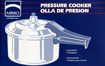 Mirro Pressure Cooker Manual English and Spanish Edition