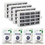 Funmit W10311524 Air Filter Activated Carbon Filter Exact Replacement for Whirlpool AIR1-4 Pack