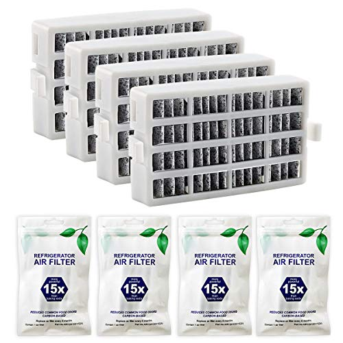 Funmit W10311524 AIR1 FreshFlow Air Filter for Whirlpool Refrigerator - Replaces W10311524 2319308 W10335147 1876318 - 4 Pack