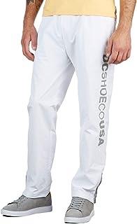 بنطلون رجالي أبيض من DC مطبوع عليه Skate Track Bottom مقاس كبير
