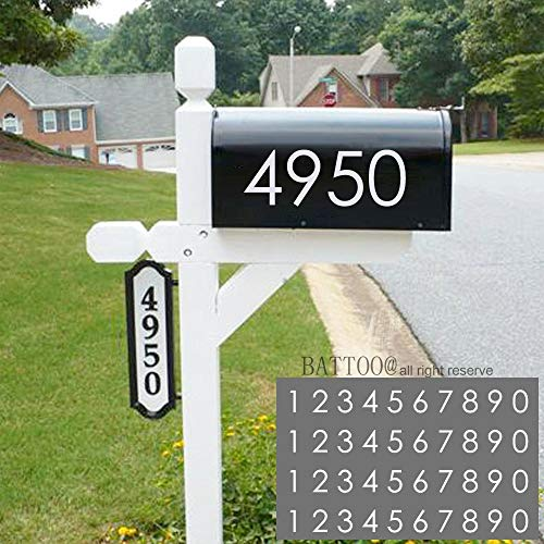 "Mailbox Numbers 2.5/"" HIGHLY Reflective Vinyl Address Number Green//Silver 2 sets"