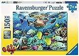 Ravensburger- Animales Puzzle con diseño de Mundo Marino, 150 Piezas (10009 5), Color Amarillo, Blanco, Azul (VR-886)