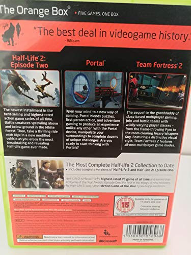 Half Life 2: The Orange Box (Xbox 360) [Importación inglesa]
