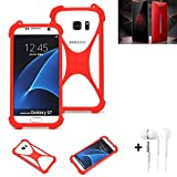 K-S-Trade® Mobile Phone Bumper + Earphones For Nubia Red