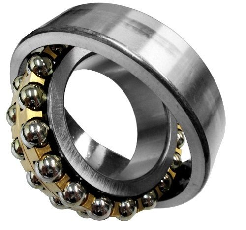 FAG 2318K-M-C3 Self-Aligning Bearing, Double Row, Tapered Bore, Open, Brass Cage, C3 Clearance, Metric, 90mm ID, 190mm OD, 64mm Width, 5000rpm Maximum Rotaional Speed, 12900lbf Static Load Capacity, 34000lbf Dynamic Load Capacity