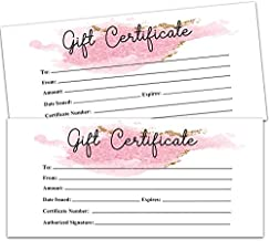 25 Blank Gift Certificates for Small Business, Clients or as Luxury Holiday Vouchers, Massage, Hair & Nail Salon Spa, Restaurants, DIY Coupon Cards for Birthday, Mom Valentines Day, Him & Her.