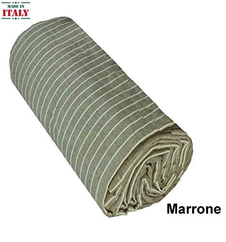 CASA TESSILE Coussin de canapé Tissu ameublement Rigato - Marrone, UneLit 1 Place