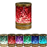 Essential Oil Aroma Humidifier, Green Aventurine Bronze Himalayan Salt Lamp Diffuser Cool Mist Humidifier, 3 in 1. Ultrasonic Aroma Diffusers. 120ml 7 Colors Lights, Birthday Gift for her