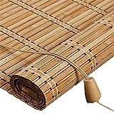 YAN FEI Sombra de Rodillo de bambú al Aire Libre para Ventana/Gazebo/balcón/Patio, persianas de bambú con Valencia - 110/130 / 150cm Ancho Quick Install Roller Blinds