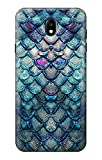 Mermaid Fish Scale Etui Coque Housse pour Samsung Galaxy J7 (2018), J7 Aero, J7 Top, J7 Aura, J7...