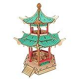 Holz 3D Architekturmodelle Spielen Geschenkpuzzles Manuelle Montage Spiel Holzbearbeitung Bausatz China Alte Doppeldach Sechseck Pavillon (246 stücke)