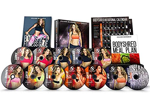Qspeed Jillian Michaels Body Shred Workout DVD Fitness Home Weight Loss Exercise with 12 Discs