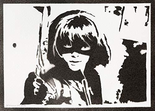 Kick-Ass Poster Hit-Girl Plakat Handmade Graffiti Street Art - Artwork