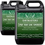 Dirtbusters Spray Today Gone Tomorrow 2 x 5 Litre Patio Decking Fence Drive Cleaner extra strength formula for removing Mould Mildew Moss Algae Lichen Killer Green Growth Remover (2)