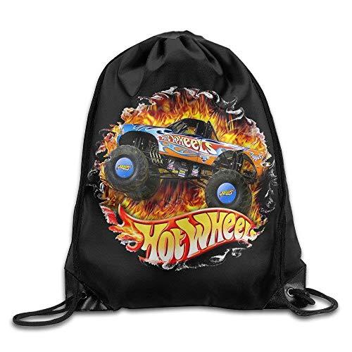 Borse da palestra Zaini Casual, Hot Wheels Nylon Drawstring Sack Bag Home Travel Sport Storage Fashion