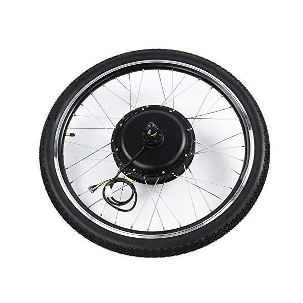 Electric Bikes Pokerty Electric Bicycle Motor Kit, 26″ Rear/Front Wheel And 48V 1000W E-Bike Motor Kit with LCD Meter Endurance E-bike Kit for Road Bike