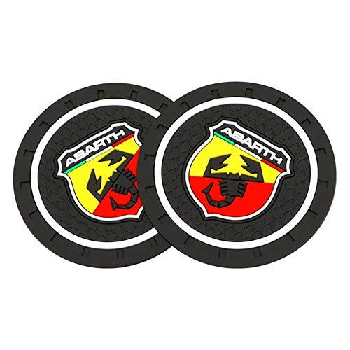 ZCN 1/2 UdsEstilo de Coche Abarth Emblema decoración PVC Coche Antideslizante Posavasos...