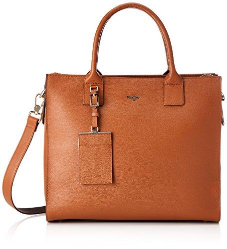 Picard, Damenshopper in der Farbe Cognac/Braun und aus Leder, Damenhandtasche mit Henkel, verstellbaren Schultergurt, 874594F210