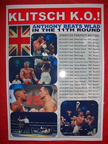 Lilywhite Multimedia Anthony Joshua Beats Wladimir Klitschko–Boxen–2017–Souvenir Print