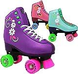 Lenexa uGOgrl Roller Skates for Girls - Kids Quad Roller Skate - Indoor, Outdoor, Derby Children's Skate - Rollerskates Made for Kids - Great Youth Skate for Beginners (Teal, 4)