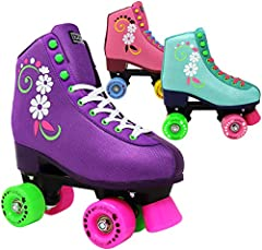 FUN & CUTE - The perfect skate for her next birthday or upcoming skating party. All her friends will want a pair too! PAIN FREE - Lenexa uGOgrls soft padded inner lining allows her to skate comfortably for hours without blisters or sore feet. ANKLE S...