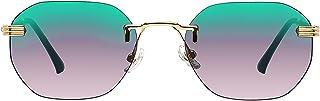 Small Oval Retro Sunglasses for Men and Women Polygon...