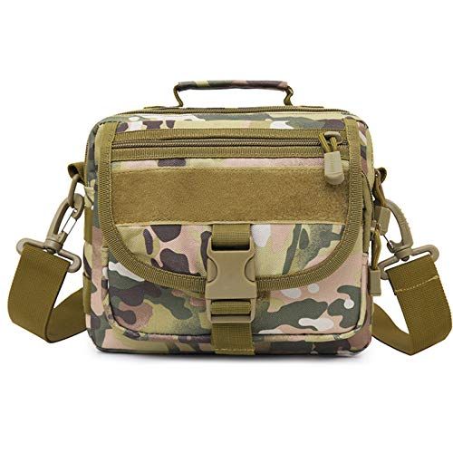 WJBXL Bolso De Mano Táctico Al Aire Libre para Hombre,Mochila Táctica Militar, Bolsa para Laptop,Bolsa De Asalto para Actividades Al Aire Libre,Green Camo