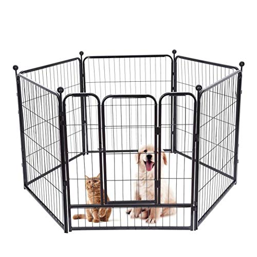 xipon Dog Playpen Heavy Duty Foldable Metal Pet Exercise Playpen – Dog Exercise Fence Outdoor Indoor for Dogs, Cats or Animals