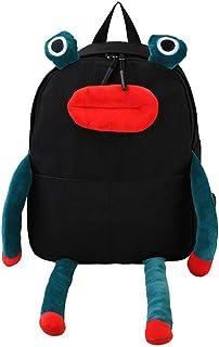 Canvas Backpack 3D Funny Cartoon Frog Satchel Lightweight Daykpack Novelty Schoolbag Bookbags Shoulder bag Purse