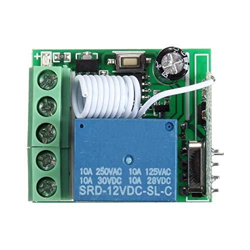 hgbygvuy 50pcs DC12V 10A 1CH 433MHz Relay Relay Relay RF RASTANT Distant MODULO di Ricevitore S