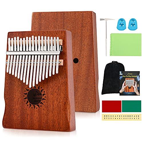 2. Donner 17 Key Kalimba Thumb Piano