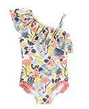 RuffleButts Baby/Toddler Girls Tropical Flamingo One Shoulder Ruffle One Piece - 18-24m