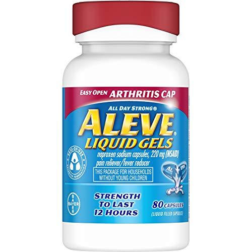 Aleve Liquid Gels Easy Open Arthritis Cap 80 Liquid Gels