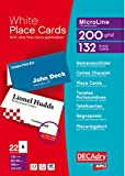 DECAdry Place Cards for Folding 200gsm 6 per A4 Sheet 85x46mm when Folded - Ref OCB3713-3 (Pack of 1(132 Cards)