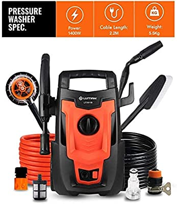 Indoor and Outdoor Cleaning Tools Mop Electric Car Washer, High Pressure Car Washer Pump, 1400W 110Bar Electric Washer Pump Car Washer Device for Auto, Garden. dljyy from dljxx