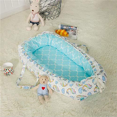 BABY NEST Tragbare 100% Baumwolle Neugeborene Waschbar 0-12 Monate Sicherheit - Bequem, Weich, 2, 85 * 50cm