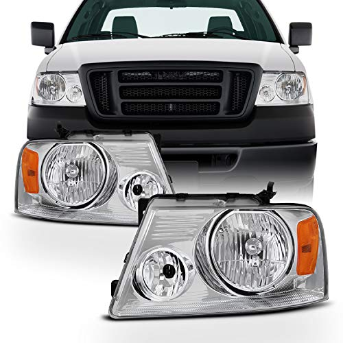 For 04-08 Ford F150 Lincoln Mark LT OE Replacement Headlights Driver/Passenger Head Lamps Pair New