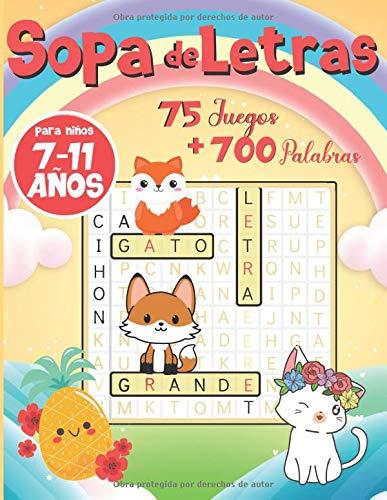 Sopa de Letras para Niños 7-11 años: Naturaleza y Animales | Juegos educativos y divertidos con pequeños dibujos para colorear