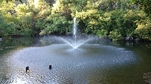 Fawn Lake Fountains SF75 Floating Fountain for Outdoor Ponds or Lakes